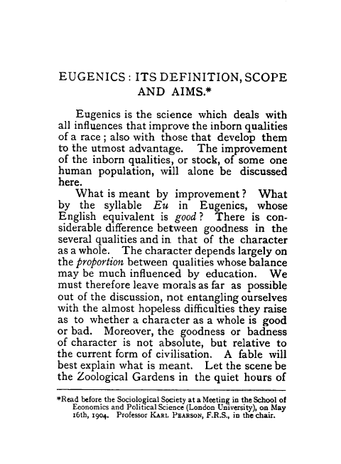 what is eugenics essay The definition of eugenics is the study and practice of selective breeding applied to humans, with the aim of improving the species sir francis.